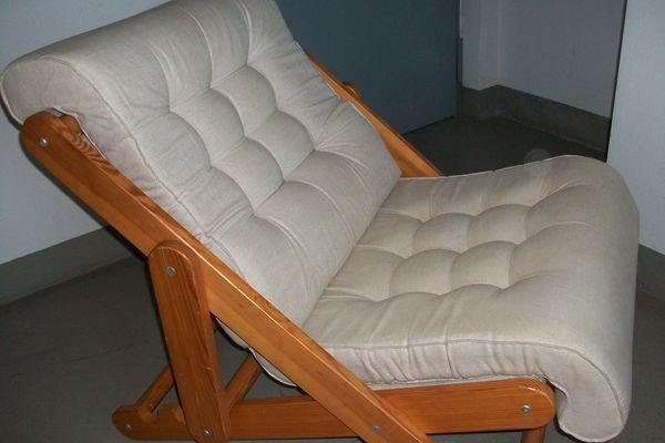 Sessel mit Polsterauflage 3fach verstellbar