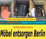 Entrümpelungen Berlin Pauschalpreis 80 Euro