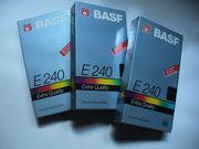 3 VHS Videokassetten BASF E240