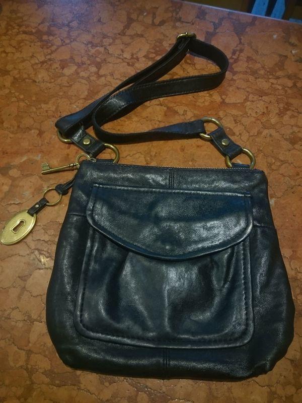 c36e488635628 Fossil Tasche Handtasche Umhängetasche schwarz