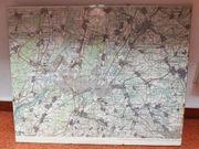 Landkarte Raum Karlsruhe Kyrillische Schrift -