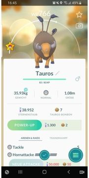 pokemon go Tauros