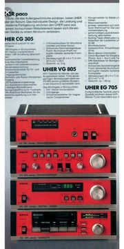 Uher Cassettengerät rot-orange klein CG305