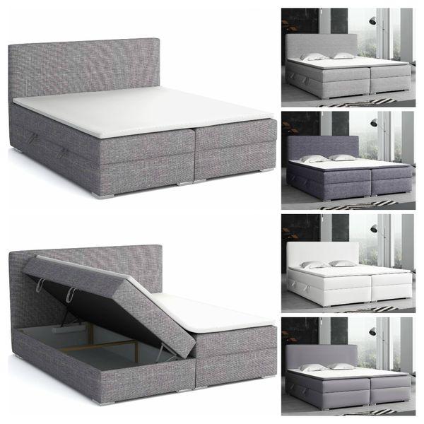 Boxspringbett mit Bettkasten Doppelbett Schlafzimmer Bett ...