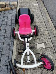 Berg Kettcar Buddy Weiß Pink