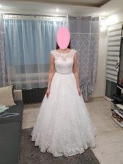 Hochzeitskleid mit Bolero weiß gr
