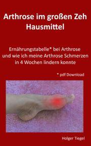 Arthrose Schmerzen im großen Zeh