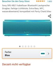 Sony Bluetooth Box mit LED