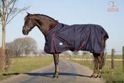 Regendecke Pferd Baumwolle Blau und