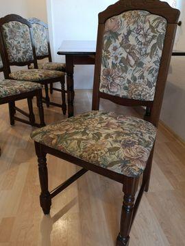 4x DDR Retro Design Esszimmer Stühle zu verkaufen