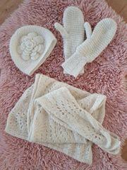 Winter-Set Wolle Schal Handschuhe Mütze