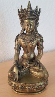 Sitzender Buddha Messing H 15