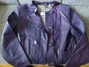 Lederjacke die Farbe Violett gr