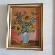 Gemälde Blumenmotiv