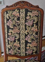 4 Vintage Stühle mit Stoffbezug
