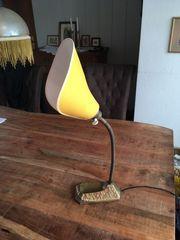 Alte BJB Tütenschirm Tischlampe 50