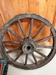 altes Wagenrad 75 cm Durchmesser