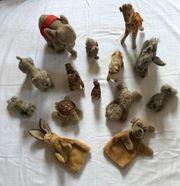 Steiff Tier Stofftier-Sammlung 14 Stück