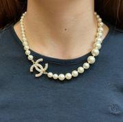 Chanel Perlen Halskette
