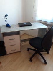 Schreibtisch Betonoptik