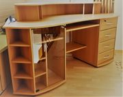 Schreibtisch Buche Furnier Ecke