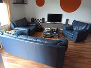 Stylische Echt Ledercouch Sofa Set