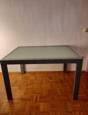 Esszimmertisch Glas 120x90 cm ausziehbar