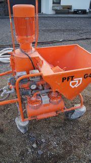 PFT G4 Verputzmaschine Fließestrichmaschine Putzmaschine