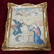 19 Jh Stickbild Klosterarbeit Mariä