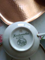 Kleine Hutschenreuther Teetassen mit Tablett