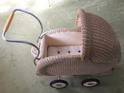Puppenwagen 50er Jahre Korb