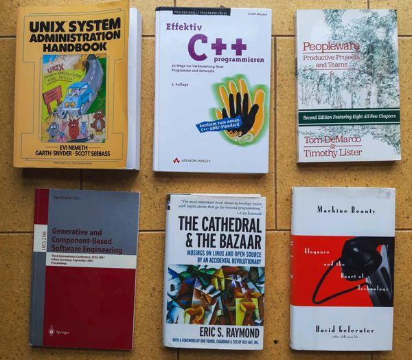 Konvolut von 6 Fachbüchern für