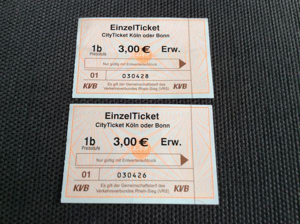 2 x City Ticket Köln