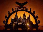 Hogwarts Potter Lichterbogen Fensterdekoration Holz