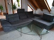 Sofa mit Clubchair Ottomane