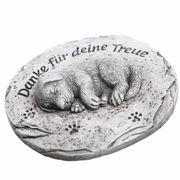 Grabschmuck Tiergrab Deko Platte mit