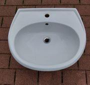 Waschtisch Waschbecken 60cm weiß gebraucht