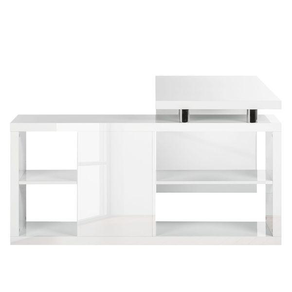 Schreibtisch Computertisch Maniküretisch Raumteiler weiss