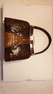 Damenhandtasche Krokodileder