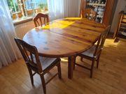 Esstisch mit 6 Stühlen aus