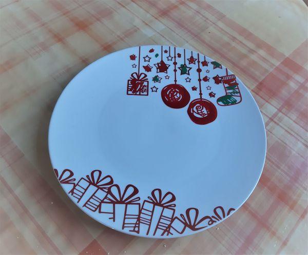 3 Weihnachsteller Pizzateller Durchmesser 30