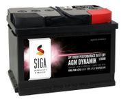 SIGA AGM Dynamik Autobatterie 60Ah