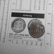 50 Reichspfennig 1875 D