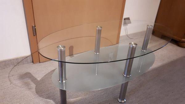 Moderner ovaler Glastisch Top Zustand
