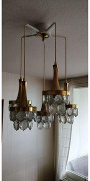 Lampe 5 Arme mit Glassteinen
