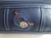 Golftasche accesories Leder imitat blau