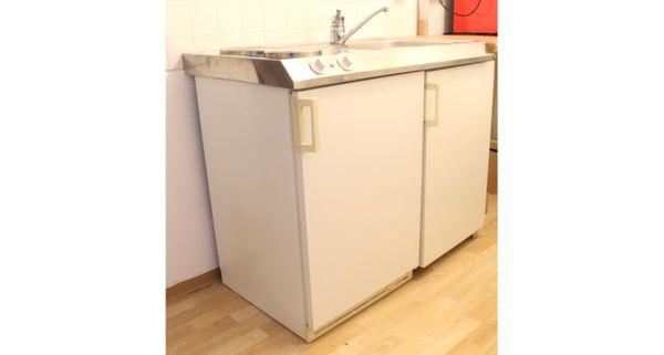 kleine Küchenzeile, Singleküche, Miniküche (Spüle, Herd, Kühlschrank, Schrank)