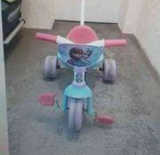 Dreirad für Mädchen Eiskönigin Schiebestange