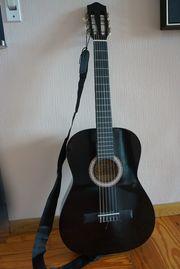 4 4 Gitarre schwarz inkl