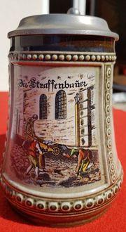 Bierkrug Bierseidel aus Porzellan mit